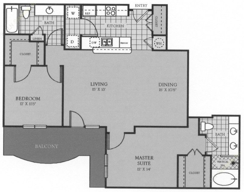 1,156 sq. ft. Valence floor plan