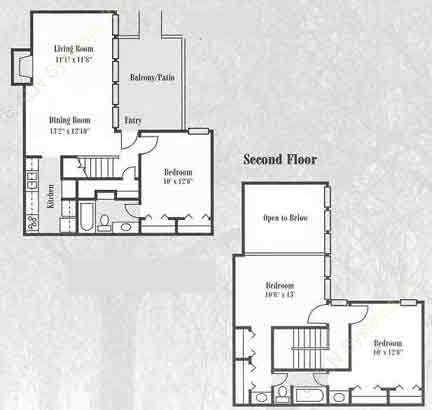 1,245 sq. ft. C1 floor plan
