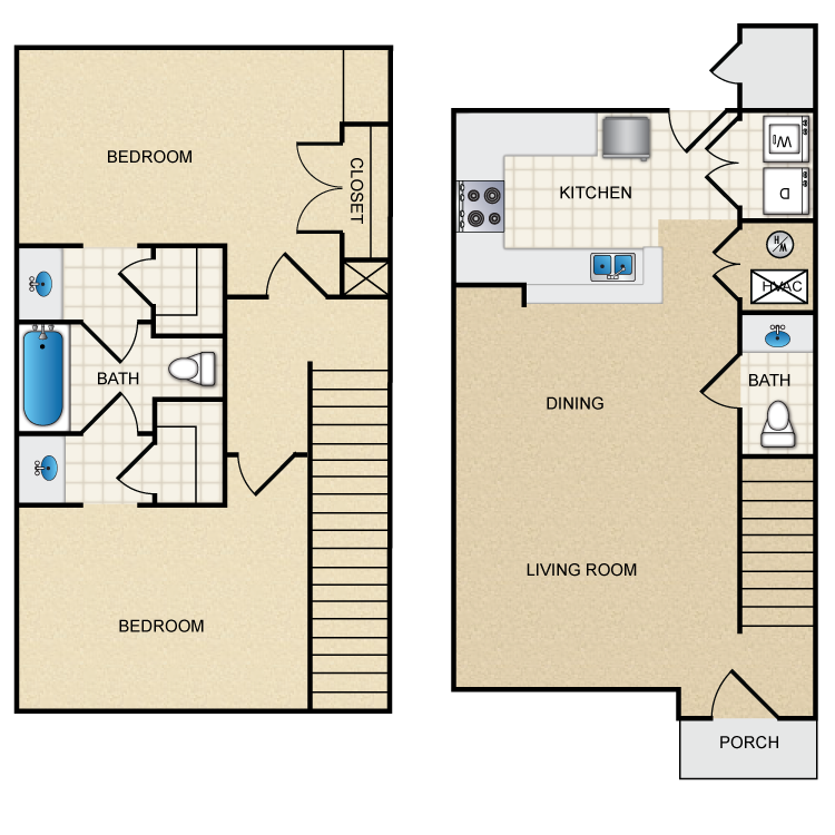 1,183 sq. ft. floor plan