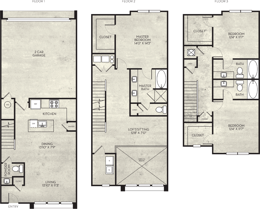 2,149 sq. ft. Tuscon floor plan