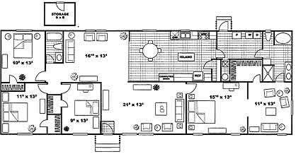 2,077 sq. ft. FLAIR F floor plan