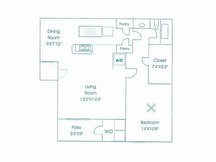 715 sq. ft. floor plan