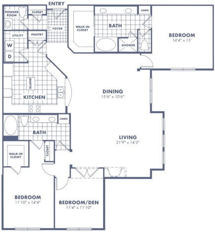 2,065 sq. ft. C3 floor plan