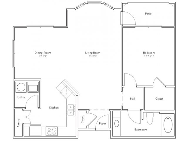 920 sq. ft. Willow floor plan