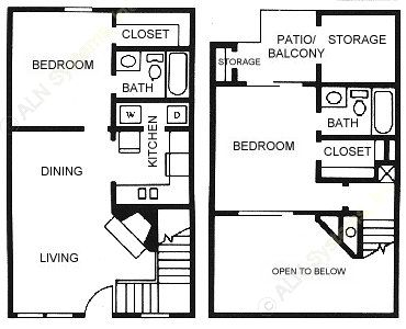 894 sq. ft. B4 floor plan