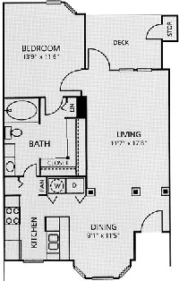 796 sq. ft. A3-Austin floor plan