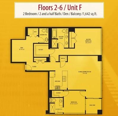 1,642 sq. ft. F floor plan