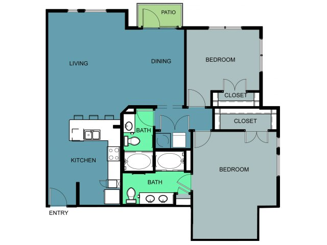 1,359 sq. ft. Winfree floor plan