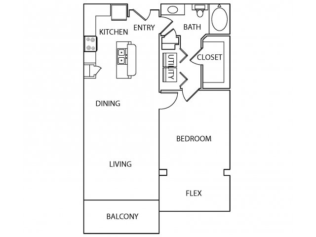 864 sq. ft. A4 floor plan