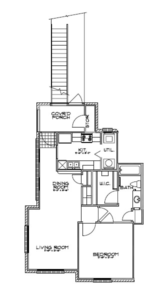 730 sq. ft. floor plan