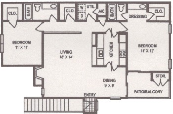 1,141 sq. ft. floor plan