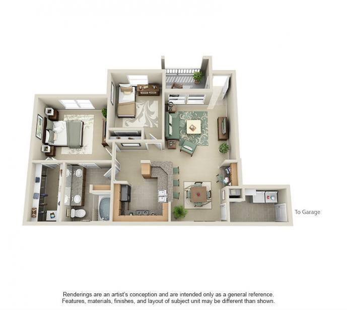 1,017 sq. ft. Frio floor plan