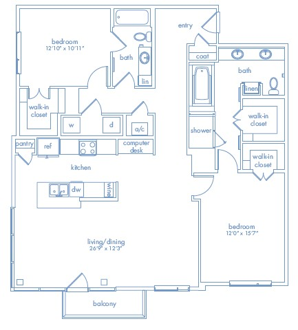1,515 sq. ft. Picasso One floor plan