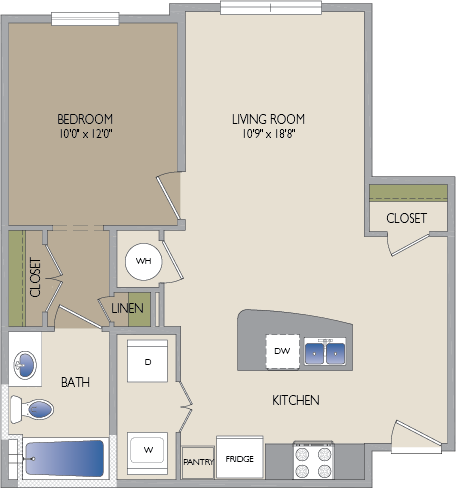 704 sq. ft. Robinhood floor plan