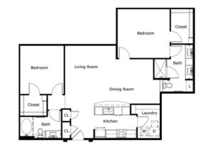 1,185 sq. ft. floor plan