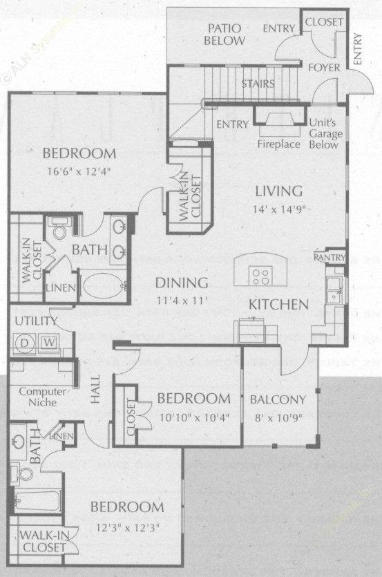 1,545 sq. ft. Lavaca floor plan