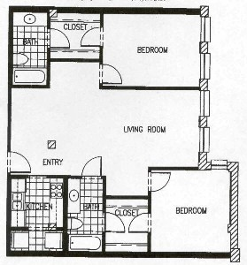 1,066 sq. ft. P6 MKT floor plan