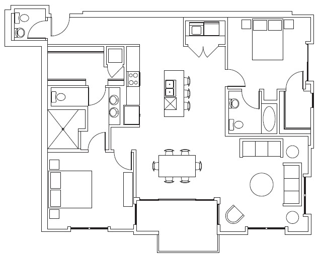 1,487 sq. ft. Duke floor plan