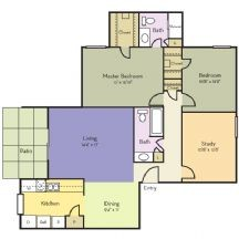 1,325 sq. ft. Heather floor plan