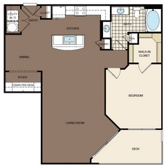 981 sq. ft. B2-alt1 floor plan