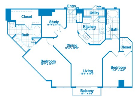 1,462 sq. ft. BT2 floor plan