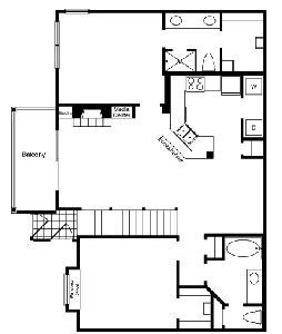 1,182 sq. ft. B2 floor plan