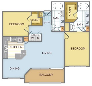 1,247 sq. ft. E/Tahoe floor plan