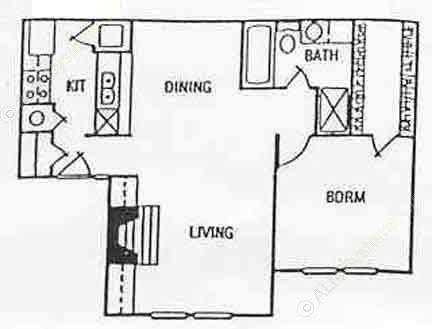 701 sq. ft. floor plan