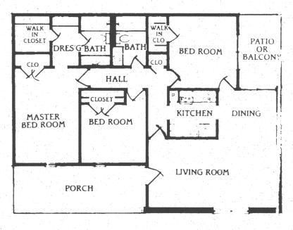 1,273 sq. ft. C-1 floor plan