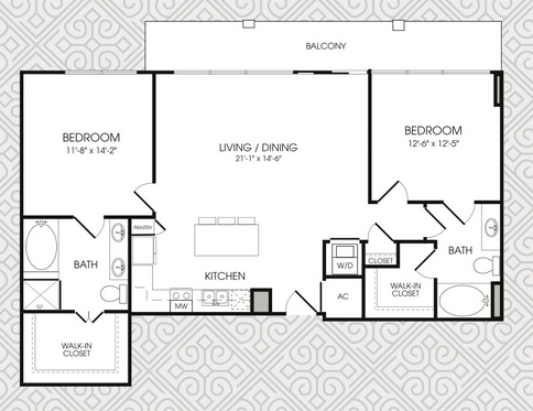 1,334 sq. ft. B8 floor plan