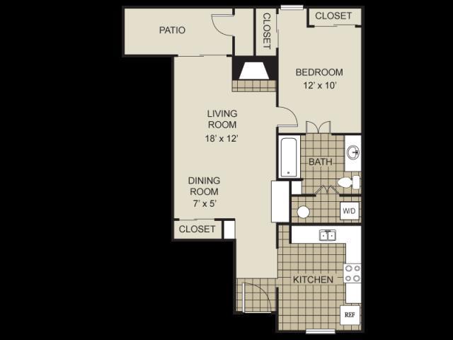 702 sq. ft. A4-C floor plan