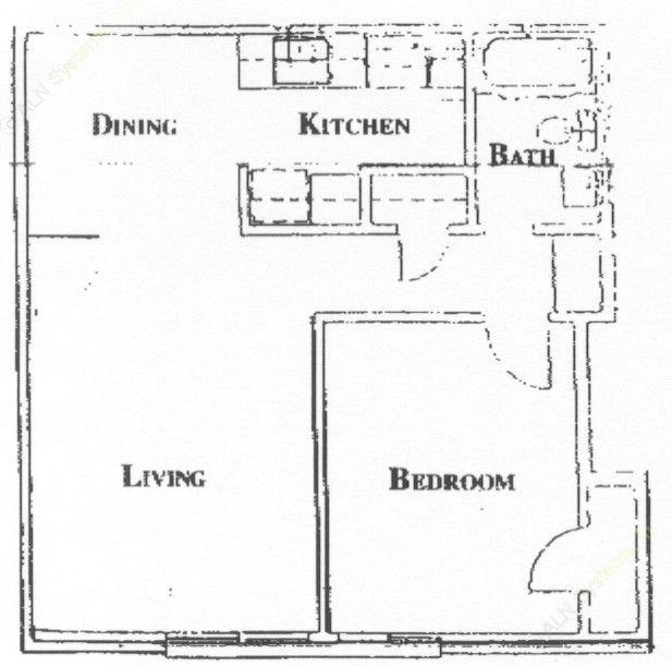 535 sq. ft. floor plan
