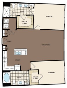 1,183 sq. ft. C1a-s floor plan