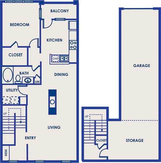 1,116 sq. ft. 11G floor plan