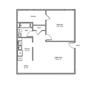 750 sq. ft. Richardson floor plan