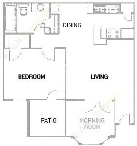 711 sq. ft. A4 floor plan