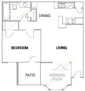 711 sq. ft. A4 floor plan