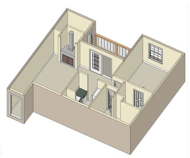 720 sq. ft. B3 floor plan