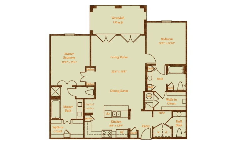 1,545 sq. ft. Valencia floor plan