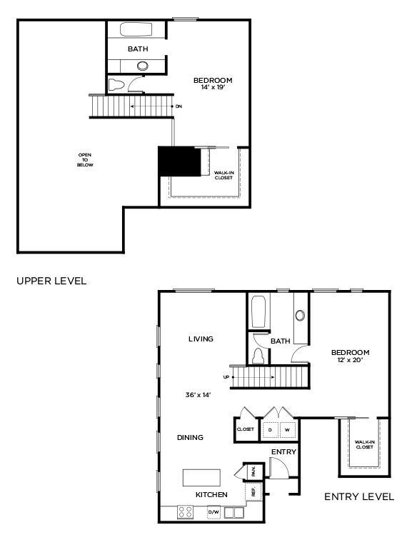 1,703 sq. ft. to 1,842 sq. ft. C4 - PH floor plan