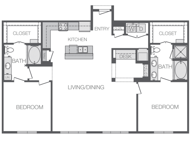 1,456 sq. ft. M floor plan