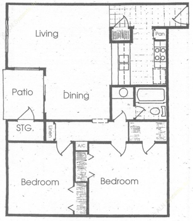 953 sq. ft. floor plan