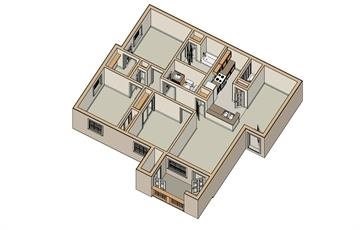 950 sq. ft. 60/YELLOWROSE floor plan