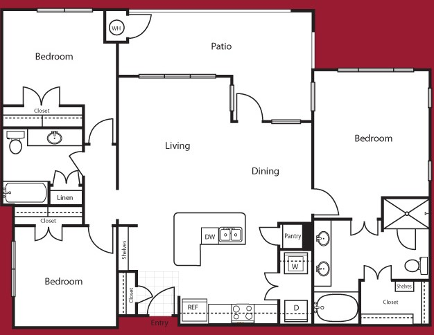 1,409 sq. ft. Amsterdam floor plan
