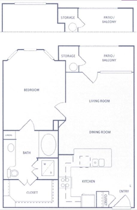 759 sq. ft. A1c floor plan