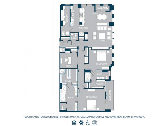 2,262 sq. ft. PH1 floor plan