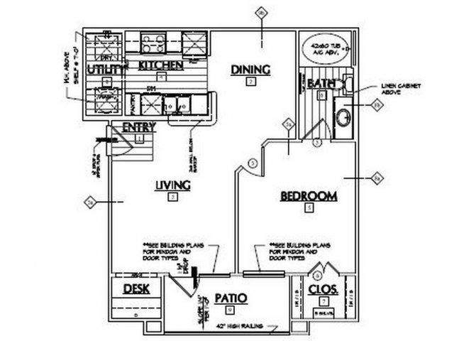 671 sq. ft. Lasso floor plan