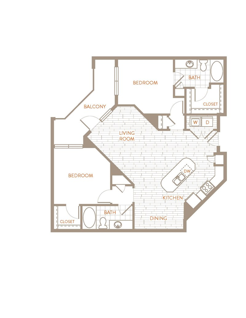 1,141 sq. ft. B3 floor plan