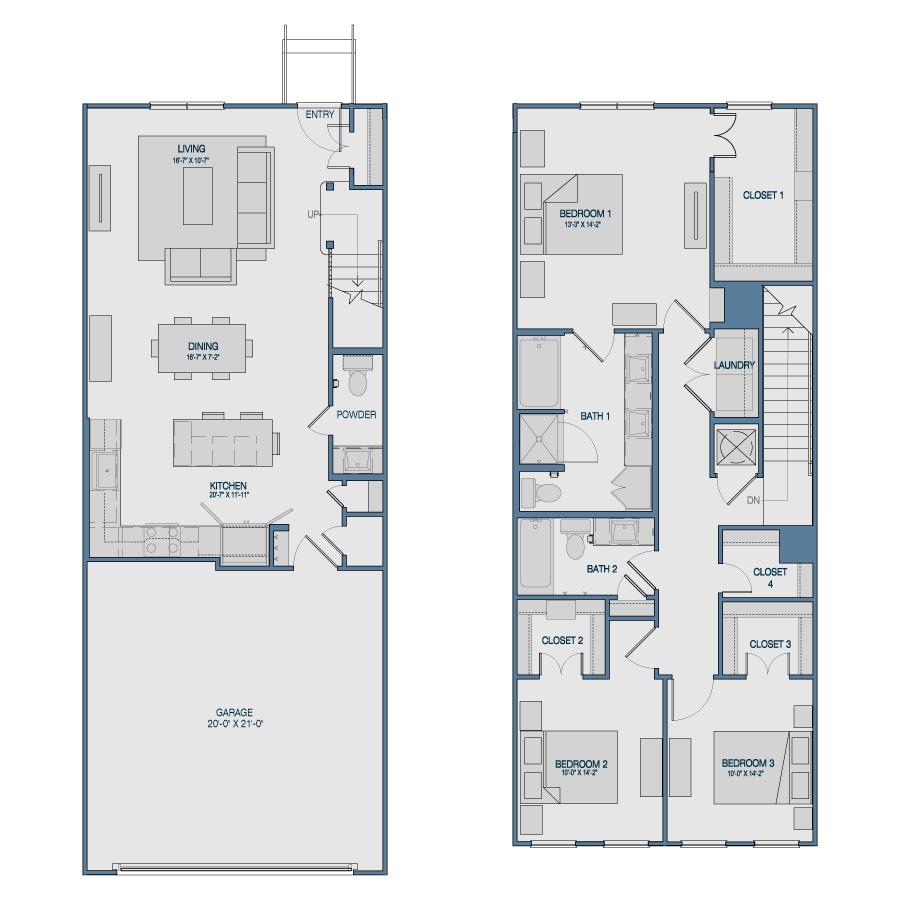 1,729 sq. ft. TH8 floor plan