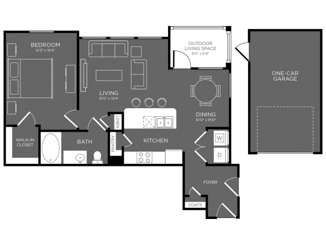 823 sq. ft. Glen floor plan